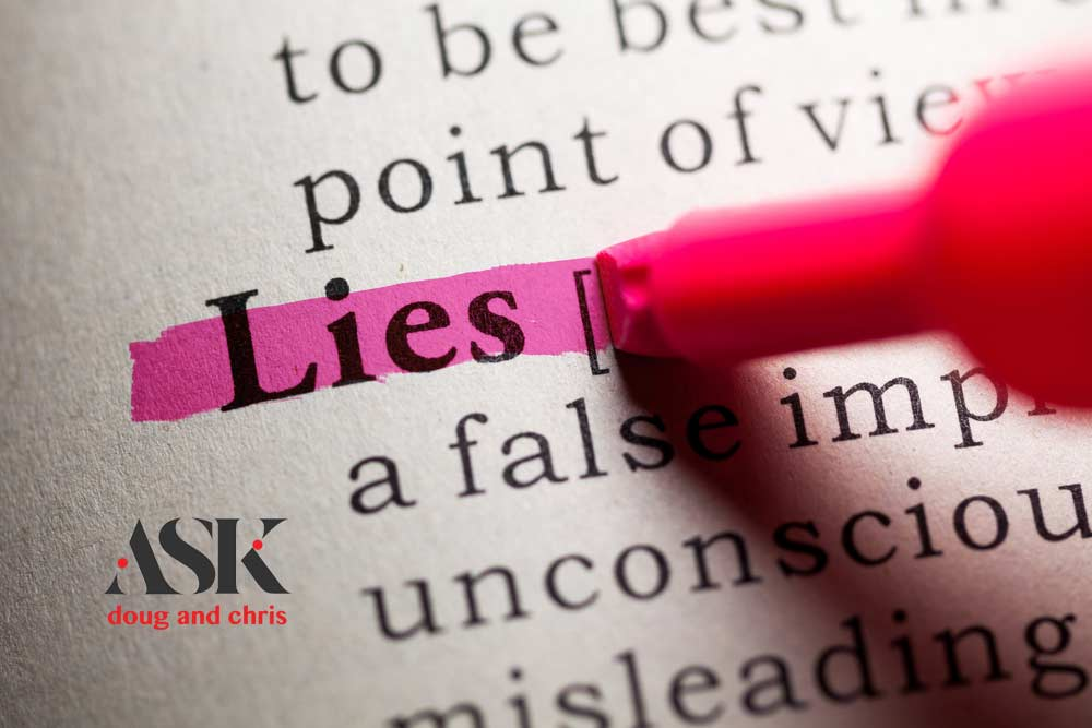 What to do when your husband lies